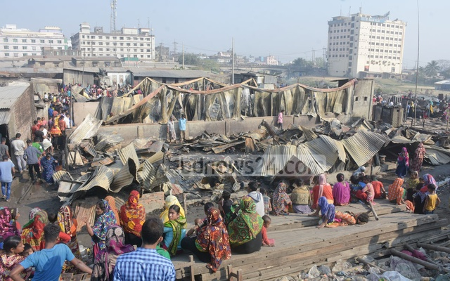 The slum that burned down in Chattogram's Chaktai was built 'illegally', officials say