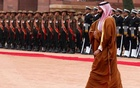 Saudi Arabia's Crown Prince Mohammed bin Salman walks back after inspecting an honour guard during his ceremonial reception at the forecourt of Rashtrapati Bhavan presidential palace in New Delhi, India, Feb 20, 2019. REUTERS