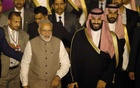Saudi Arabia's Crown Prince Mohammed bin Salman and India's Prime Minister Narendra Modi pose for a picture after Salman's arrival at an airport in New Delhi, India, February 19, 2019. Reuters