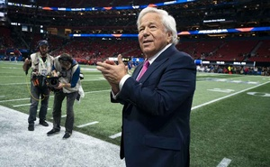 New England Patriots owner Robert Kraft walks onto the field during the Super Bowl, in Atlanta, Feb 4, 2019. The New York Times