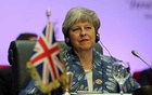 Britain's Prime Minister Theresa May attends a summit between Arab league and European Union member states, in the Red Sea resort of Sharm el-Sheikh, Egypt, Feb 24, 2019. REUTERS/Mohamed Abd El Ghany