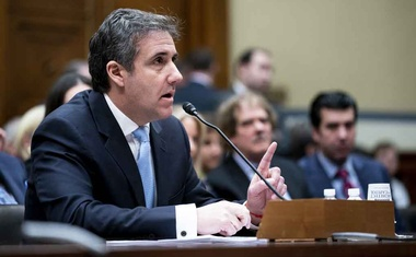 Michael Cohen, President Donald Trump's former personal lawyer, as he testifies before the House Oversight and Reform Committee on Capitol Hill, in Washington, Feb 27, 2019. (Erin Schaff/The New York Times)