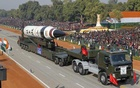 A surface-to-surface Agni V missile is displayed during the Republic Day parade in New Delhi, India, in this January 26, 2013 file photo. Reuters