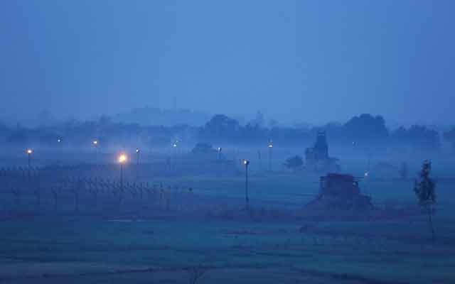 FILE PHOTO: Indian Border Security Force (BSF) bunkers are pictured near the fenced border with Pakistan in Ranbir Singh Pura sector near Jammu March 1, 2019. Reuters
