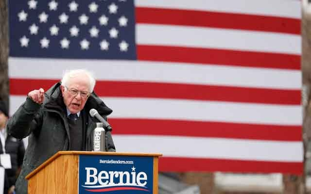 US Presidential Candidate and Vermont Senator Bernie Sanders speaks at a rally in New York, United States March 2, 2019. REUTERS/Andrew Kelly