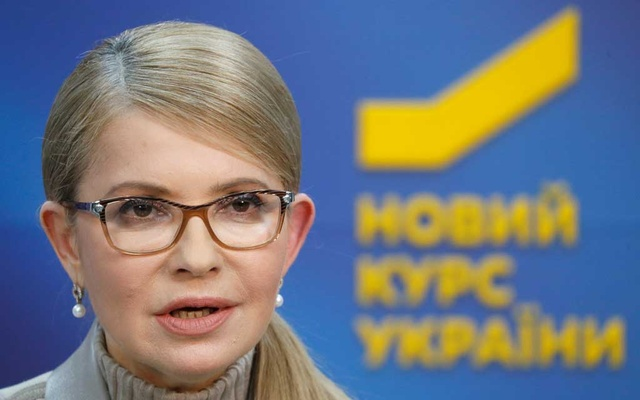 Leader of opposition Batkivshchyna party and presidential candidate Yulia Tymoshenko attends a news conference in Kiev, Ukraine, February 22, 2019. Reuters