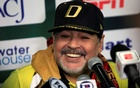 FILE PHOTO: Dorados coach Diego Maradona attends a news conference. Ascenso MX - Semifinals Second Leg- FC Juarez v Dorados - Benito Juarez Stadium, Ciudad Juarez, Mexico -November 24, 2018. Reuters