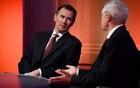 British Foreign Minister Jeremy Hunt appears on BBC TV's The Andrew Marr Show in London, Britain Mar 10, 2019. REUTERS