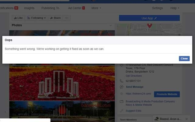 Facebook says 'some' users are having trouble, it is fixing