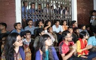 DUCSU polls: Students stage sit-in in front of VC's office to call for fresh polls