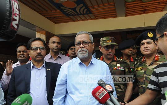 Chief Election Commissioner KM Nurul Huda went to the Combined Military Hospital in Chattogram on Tuesday to visit the injured victims of the Rangamati gun attack on polls officials and security personnel.