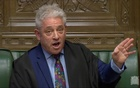 FILE PHOTO: Speaker of the House John Bercow speaks in Parliament, in London, Britain, March 18, 2019, in this screen grab taken from video. Reuters TV via REUTERS