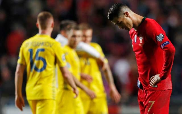 Portugal draw a blank against Ukraine on Ronaldo's return