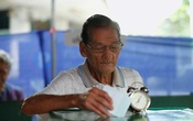 A voter casts his ballot in the general election at a polling station in Bangkok, Thailand, March 24, 2019. REUTERS/Soe Zeya Tun