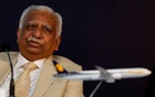 FILE PHOTO: Naresh Goyal, Chairman of Jet Airways speaks during a news conference in Mumbai, India, November 29, 2017. Reuters