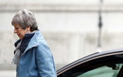 Britain's Prime Minister Theresa May is seen outside Downing Street in London. REUTERS