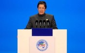FILE PHOTO: Pakistani Prime Minister Imran Khan speaks at the opening ceremony for the first China International Import Expo (CIIE) in Shanghai, China November 5, 2018.