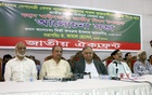 Jatiya Oikya Front leaders at a discussion organised at the National Press Club in Dhaka on Sunday over demands including release of BNP Chairperson Khaleda Zia from jail.