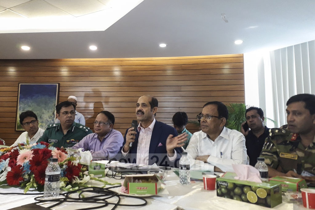 Dhaka North Mayor Atiqul Islam sat with students from several educational institutions, including Bangladesh University of Professionals or BUP, at his office on Thursday. The students took to the streets last month in protest at the death of Abrar Ahmed Chowdhury, a BUP student, in a road accident.