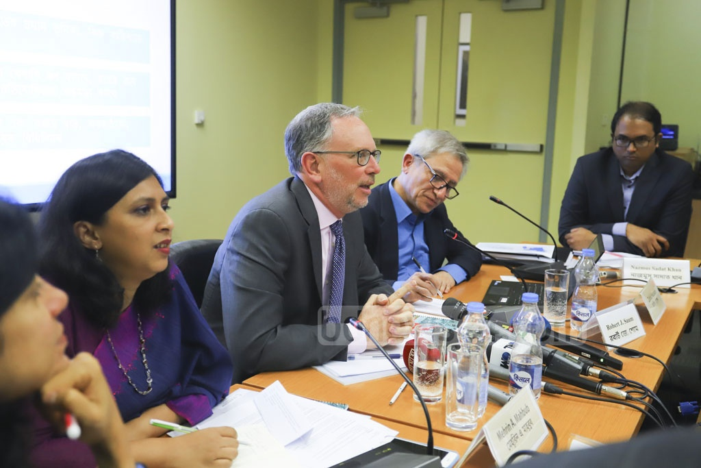 Robert J Saum, the World Bank country director in Bangladesh and Bhutan, speaking at the launch of spring 2019 edition of the Bangladesh Development Update: Towards Regulatory Predictability in Dhaka on Thursday. Photo: Asif Mahmud Ove