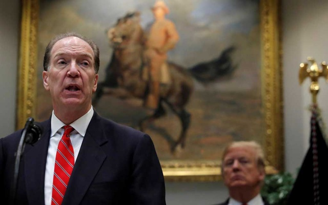 FILE PHOTO: US candidate in election for the next President of the World Bank David Malpass speaks at an event with US President Donald Trump at the White House in Washington, US, Feb. 6, 2019. Reuters