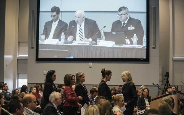 The US Food and Drug Administration conducts a public hearing on breast implants in Silver Spring, Md, Mar 25, 2019. France on Apr 5, 2019, became the first country to ban several types of textured breast implants that have been linked to a rare form of cancer, anaplastic large-cell lymphoma. The New York Tim