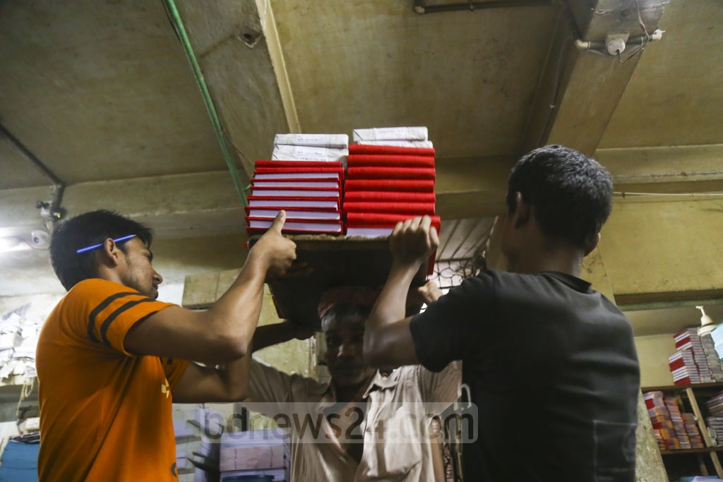 The demand for ledgers soars also during the New Year in line with the Gregorian calendar. Photo: Mahmud Zaman Ovi