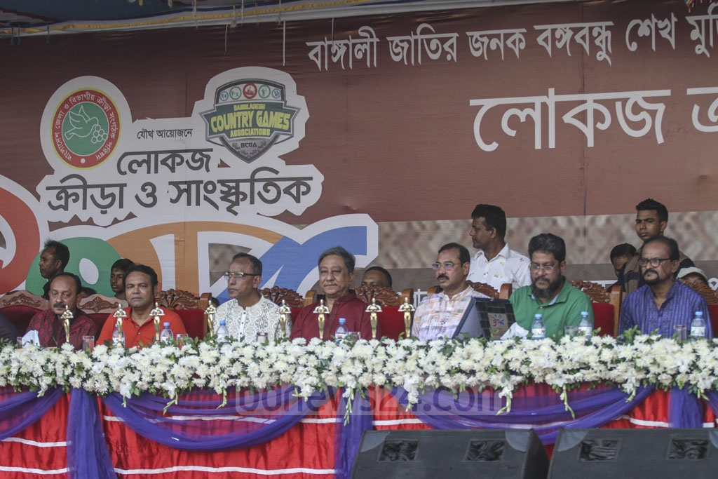 BCB President Nazmul Hossain and Chattogram Mayor AJM Nasir Uddin were among the spectators of the first bullfight in Dhaka.