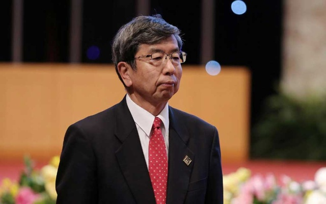 FILE PHOTO: President of the Asian Development Bank Takehiko Nakao arrives for the sixth Mekong Greater Sub-Region Summit (GMS-6) in the National Convention Centre (NCC) in Hanoi, Vietnam 31 Mar 2018. REUTERS