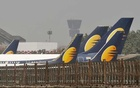 FILE PHOTO: Jet Airways aircraft are seen parked at the Chhatrapati Shivaji Maharaj International Airport in Mumbai, India, March 26, 2019. REUTERS