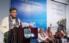 Information Minister Hasan Mamud at the inauguration of a three-day national photo exhibition, Ruposhi Bangla, at the Shilpakala Academy in Dhaka on Friday.