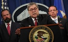 US Attorney General Barr speaks at a news conference to discuss Special Counsel Robert Mueller's report on Russian interference in the 2016 US presidential race, in Washington. REUTERS