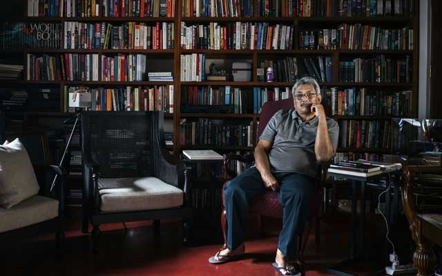 FILE Photo: Gotabaya Rajapaksa, brother to the former Sri Lankan president Mahinda Rajapaksa, at home in Colombo on Dec. 7, 2018. As Sri Lanka's defense chief, Rajapaksa oversaw the final stages of the civil war that ended in 2009. (Adam Dean/The New York Times)