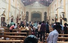 St Anthony's Church after the blast. Photo via The Daily Mirror, Sri Lanka