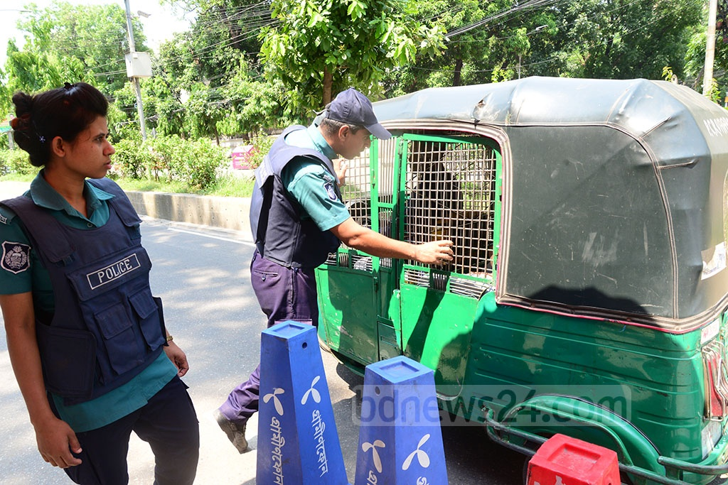 Security was beefed up in Dhaka on Monday, the Shab-e-Barat holiday, in the wake of the deadly Easter Sunday bomb blasts in churches and luxury hotels in Sri Lanka.