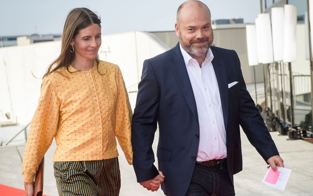 The Bestseller company owner Anders Holch Povlsen and his wife Anne arrive at the celebration of the 50th birthday of Crown Prince Frederik of Denmark in Royal Arena in Copenhagen, Denmark, May 27, 2018. REUTERS