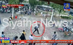 A suspected suicide bomber enters St Sebastian's Church in Negombo, Sri Lanka Apr 21, 2019 in this still image taken from a CCTV hand-out footage of Easter Sunday attacks released on Apr 23, 2019. REUTERS