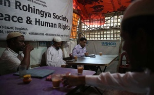 Mohib Ullah, a leader of Arakan Rohingya Society for Peace and Human Rights, is seen in his office in Kutupalong camp in Cox's Bazar, Bangladesh Apr 7, 2019. REUTERS