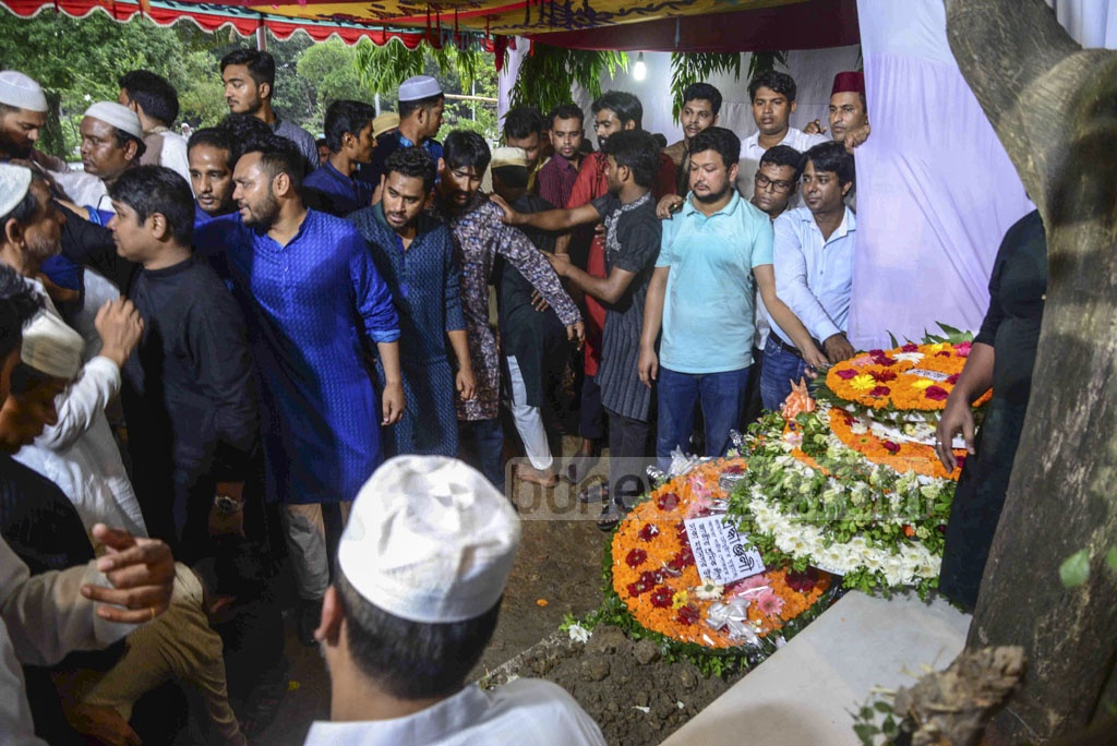 Zayan Chowdhary, the Bangladeshi boy killed in the Sri Lanka Easter Sunday attacks, is being buried at the Banani Graveyard on Wednesday.