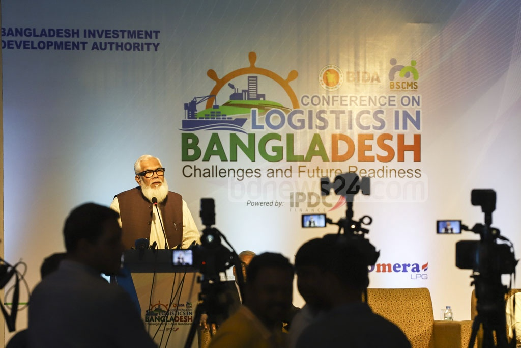 Salman F Rahman, the private sector industries and investment adviser to the prime minister, speaks at a conference organised by the Bangladesh Investment Development Authority, or BIDA, at a Dhaka hotel on Thursday. Photo: Asif Mahmud Ove