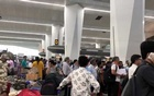 Crowds of people are seen at the Indira Gandhi International Airport in Delhi, India, Apr 27, 2019 in this picture obtained from social media. REUTERS