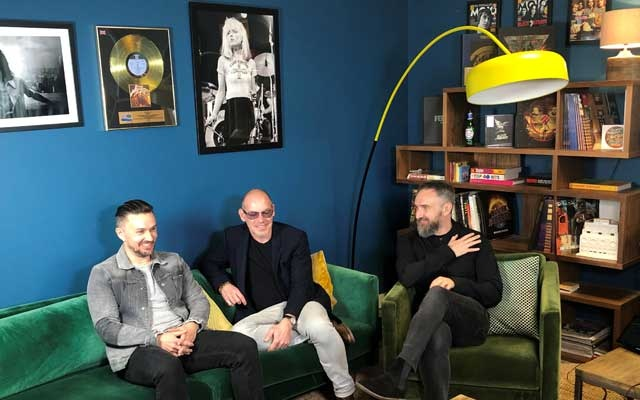 Members of The Cranberries, bassist Mike Hogan, drummer Fergal Lawler and guitarist Noel Hogan speak to Reuters during an interview in London, Britain, April 24, 2019. Reuters