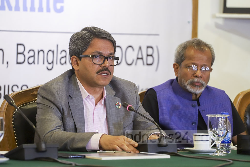 State Minister for Foreign Affairs Md Shahriar Alam speaking at a discussion organised by the Diplomatic Correspondents Association, Bangladesh (DCAB) on the Rohingya refugee crisis in Dhaka on Sunday. Photo: Abdullah Al Momin