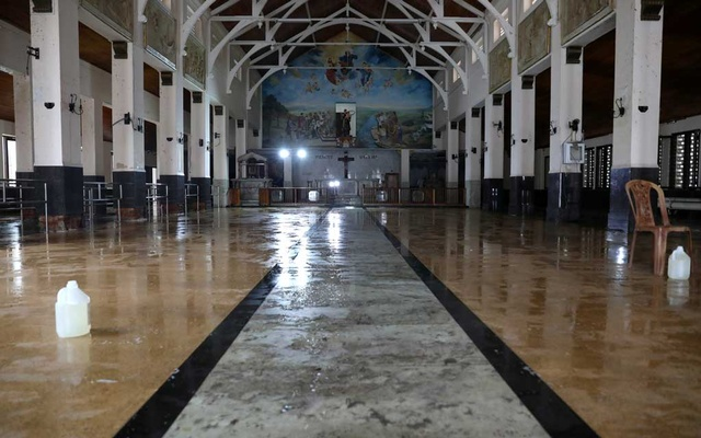 The interior of St. Anthony's Shrine is pictured after cleaning, days after a string of suicide bomb attacks on churches and luxury hotels across the island on Easter Sunday, in Colombo, Sri Lanka Apr 27, 2019. REUTERS