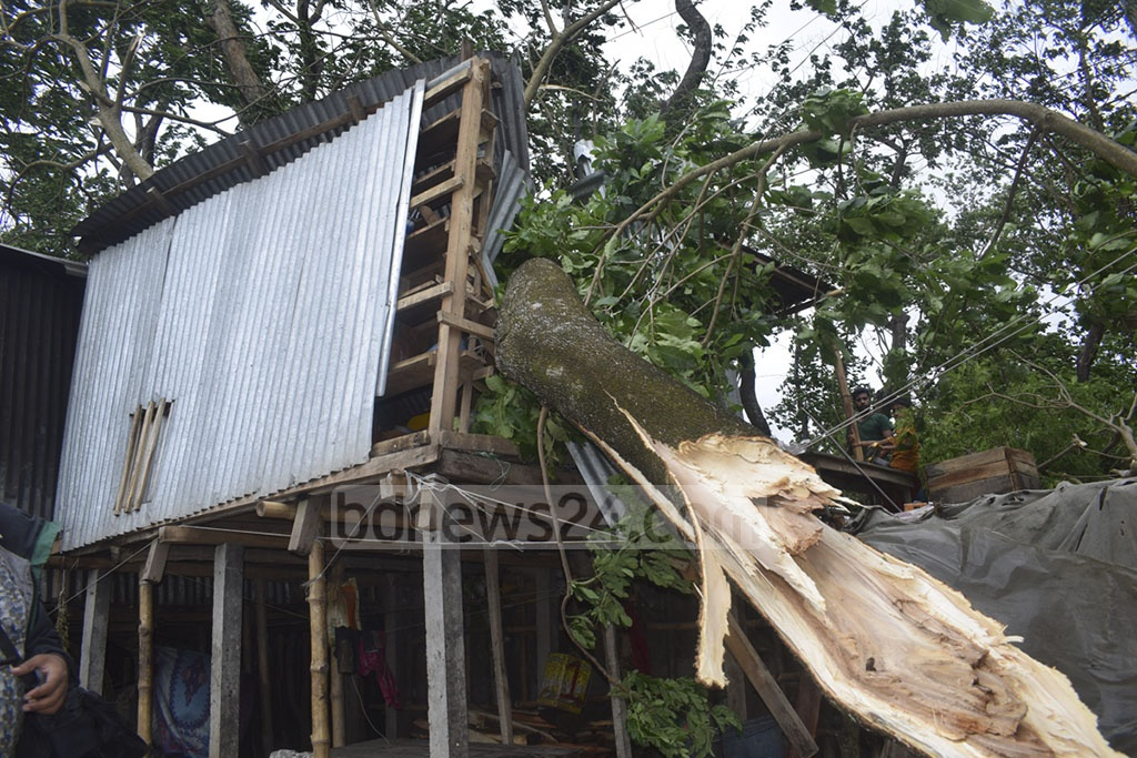 More than 150 homes were destroyed in Chandpur after Cyclone Fani battered the coastal district.