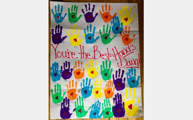 In a photo provided by Ben Adam, a thank you poster made by students who received school supplies and snacks from Ben Adam. Last month, Adam, a New Yorker who owns a real estate company, started the website Classroom Giving to help teachers in need of supplies. The New York Times