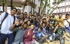 Motijheel Ideal School and College students ecstatic after getting their SSC results. Photo: Asif Mahmud Ove