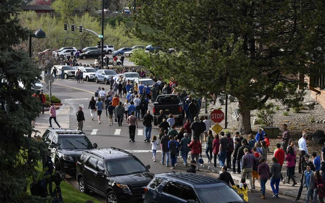 Two students open fire at Colorado school, killing 1, wounding 7