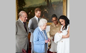 File Photo: Britain's Prince Harry and Meghan, Duchess of Sussex are joined by her mother, Doria Ragland, as they show their new son, born on Monday and named as Archie Harrison Mountbatten-Windsor, to the Queen Elizabeth II and the Duke of Edinburgh at Windsor Castle, Britain May 8, 2019 in this image released on May 8, 2019. Chris Allerton/Copyright SussexRoyal/Pool via REUTERS