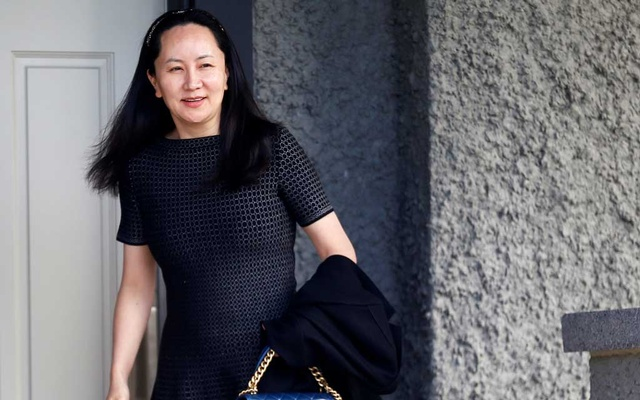 Huawei's Financial Chief Meng Wanzhou leaves her family home in Vancouver, British Columbia, Canada, May 8, 2019. REUTERS